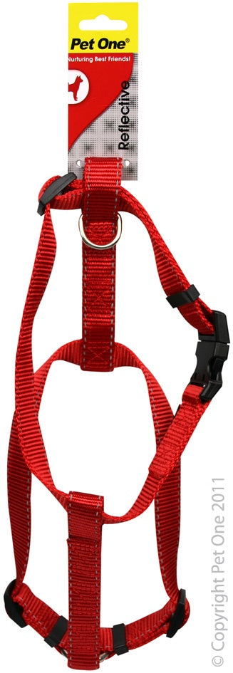Pet One Reflective Harness - Red
