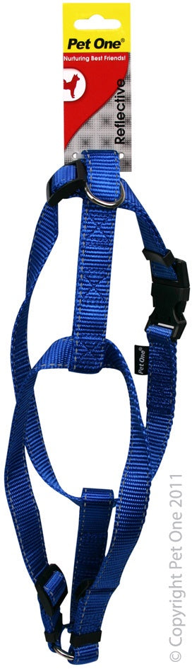 Pet One Reflective Harness - Blue