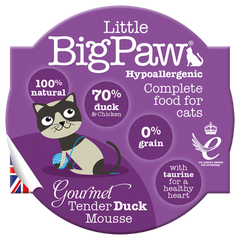 Little Big Paw Cat Food - Duck Mousse