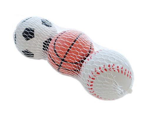 Sponge Rubber Sports Ball - 3 Pack