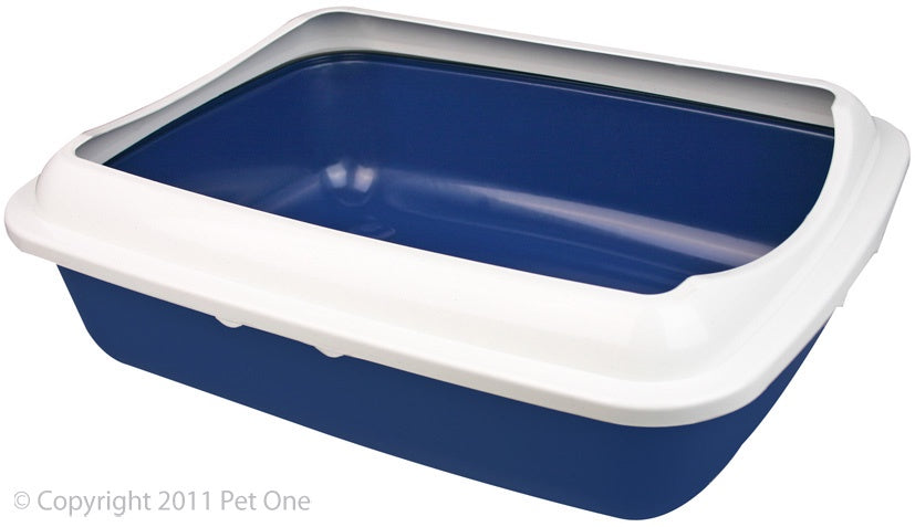 Pet One Litter Tray - Rectangle Large with Lid