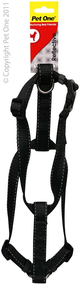 Pet One Reflective Harness - Black