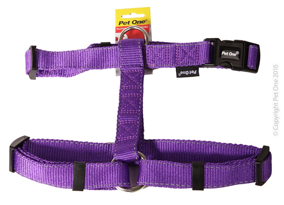Pet One Reflective Harness - Purple