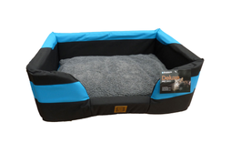 Delux Water Resistant Bed - Blue & Black