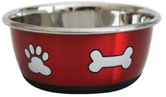 Durapet Stainless Steel Bowl - Red - Mudpuppy