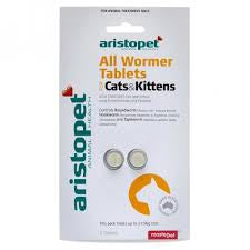 Aristopet All Wormers - For Cats - Mudpuppy