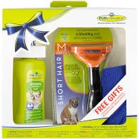 Furminator Deshedder for Medium Sized Dogs with Short Hair (with FREE Gifts)