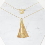 I Remember You Leather Tassel Necklace