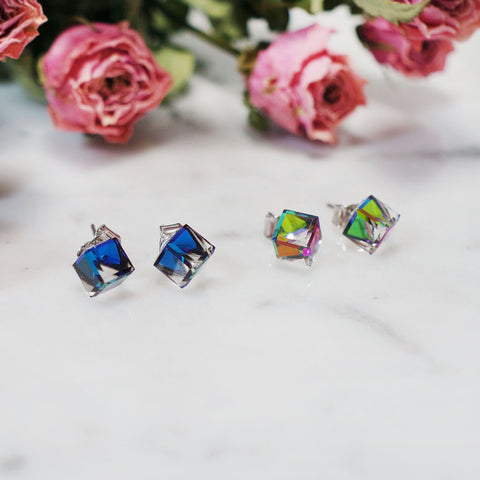 Susan Swarovski Cube Earrings