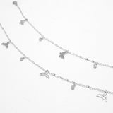 Butterfly Stainless Steel Anklet