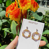 Flower Sensation Earrings  [Two-two]