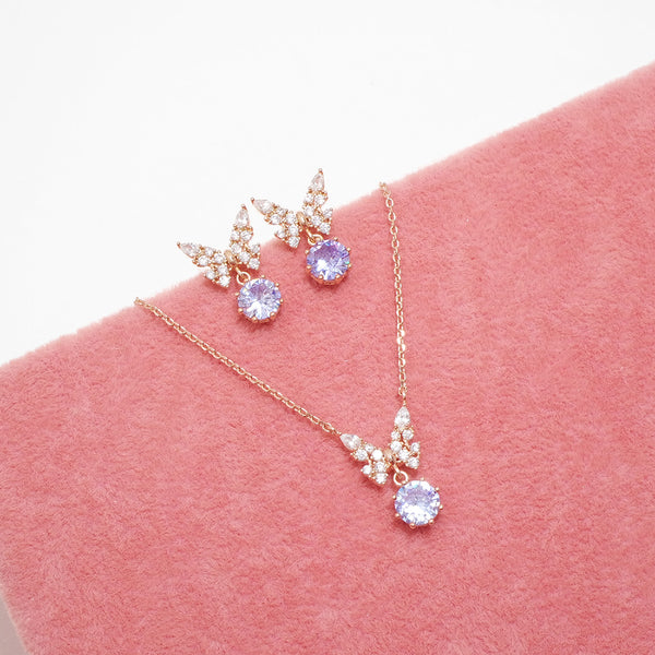 Alluring Butterfly Necklace & Set