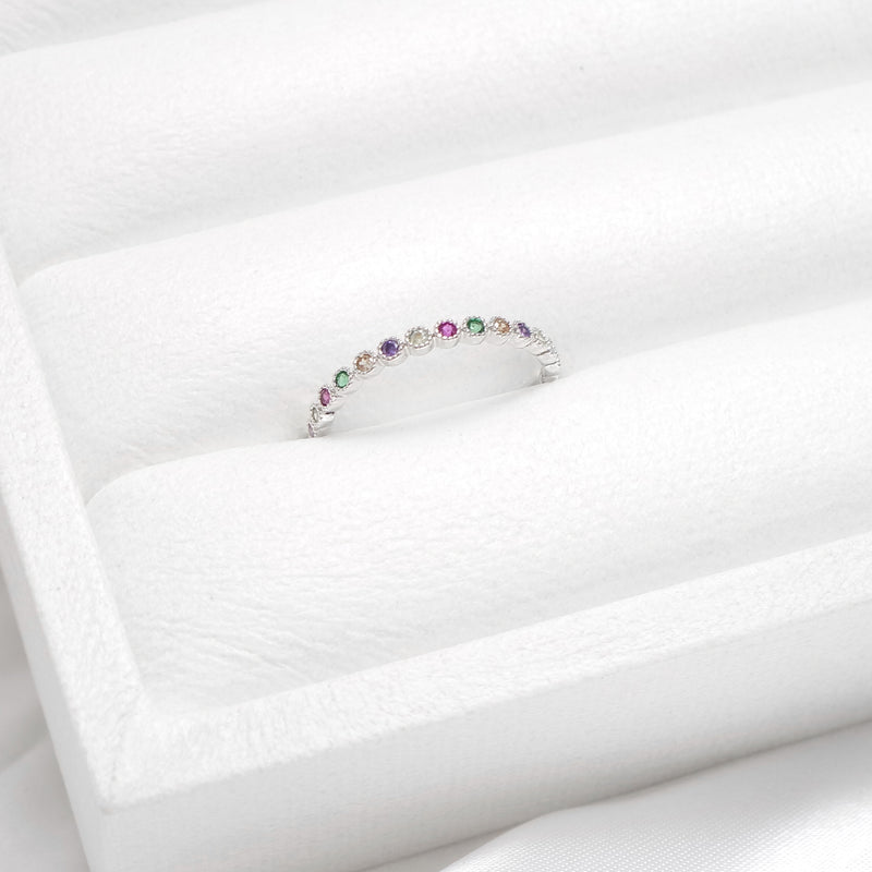 Rainbow Silver Ring [Worker Holic]