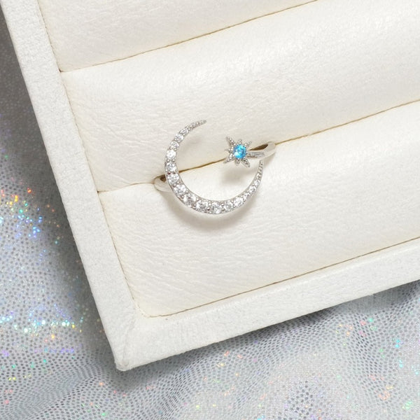 Blue Moonlight Ring