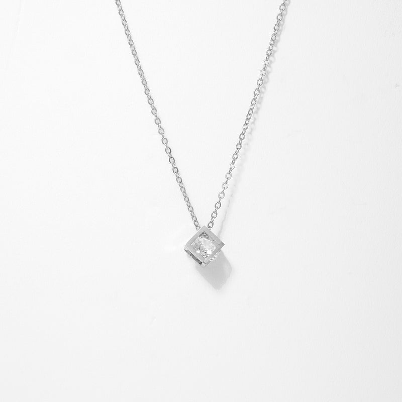 Cube DIA Stainless Steel Necklace