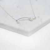 Jane Elegance Pearl Wave Long Necklace