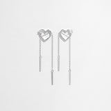 Be My Love Moving Chain Earrings [Two-Two]