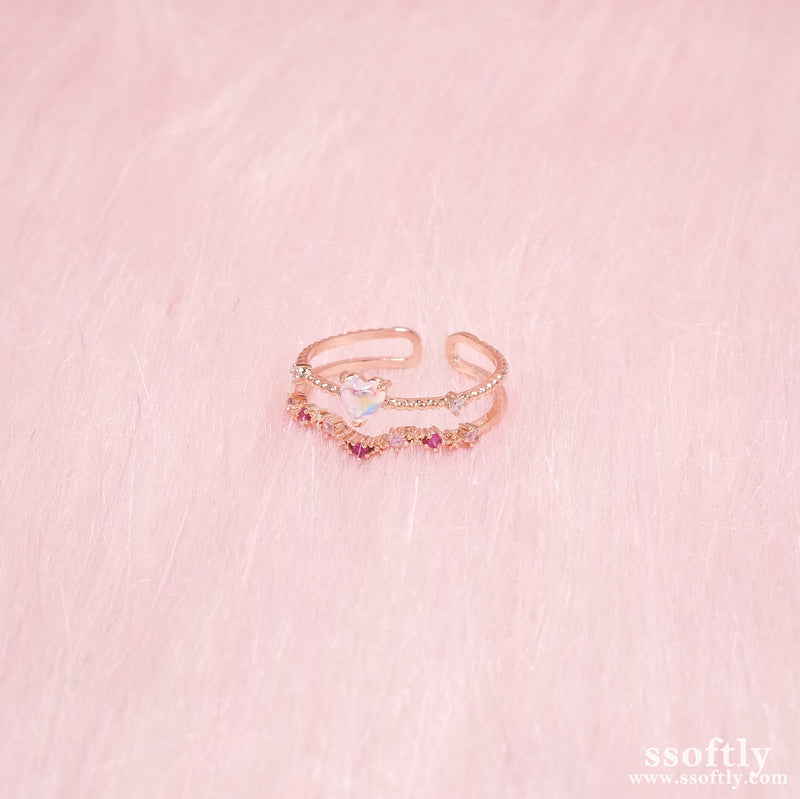 Bubble Love Double Ring