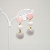 Candy PomPom Earrings [Romantic Winter]