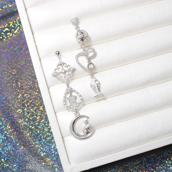Cats In The Night Sky Earrings