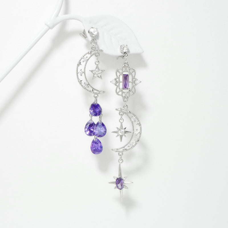 Crescent Dream Earrings In Violet
