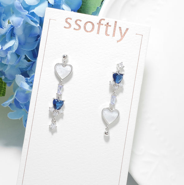 Dear My Blue Heart Earrings [Two-two]