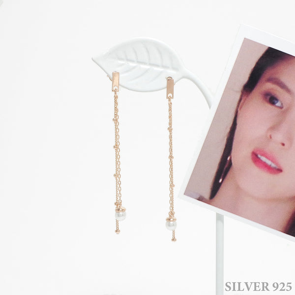 Dramatic Love Chain Earrings [The World Of Marriage]