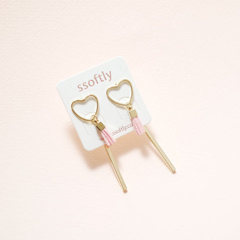 Charlotte Love You Tassel Earrings