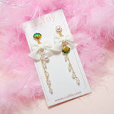 Green Shelly Earrings [Mermaid Collecion]