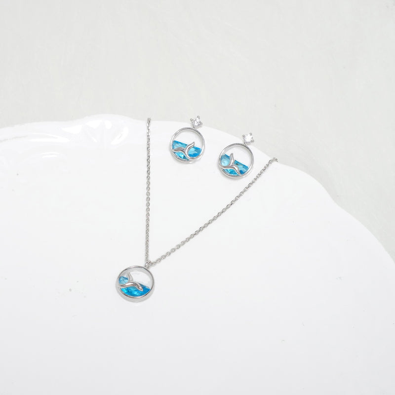 Hello Dolphin Necklace&Bracelet [Silver 925]