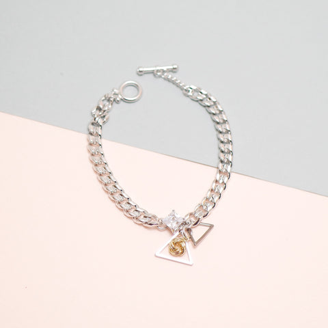 Megan Triangle Pendant Chain Bracelet