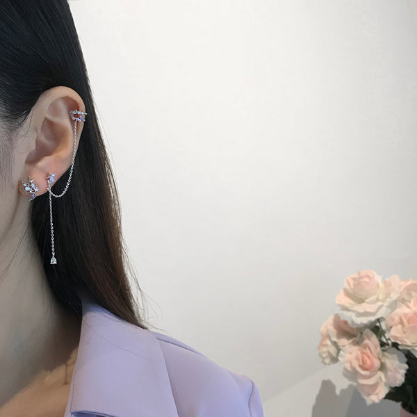Dream Of Butterfly Earrings/Ear Cuff [Two-two]
