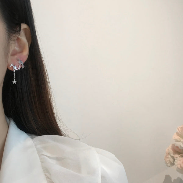 Shining Constellation Earrings  [Two-two]