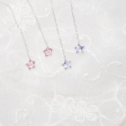 Vivian Star Pendant Earrings (925 Silver)