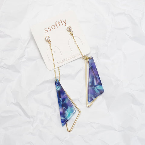 Samantha Blue Rain Earrings