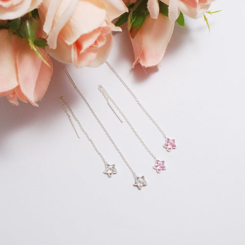 [SS]Vivian Star Pendant Earrings (Sterling Silver)