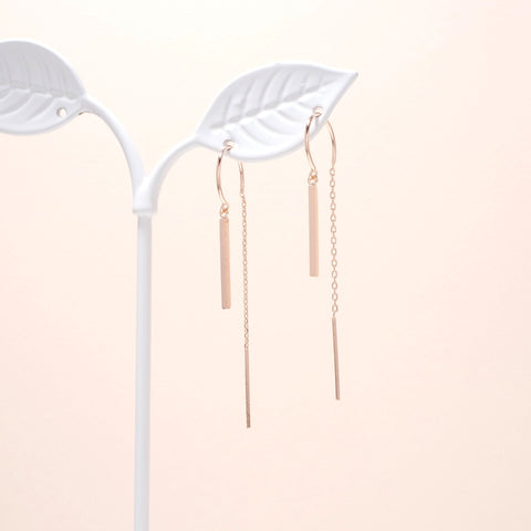 Bar Dangled Earrings [Secretary Kim]