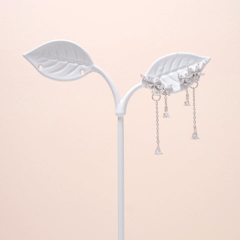 Flower Pendant Drop Earrings [Secretary Kim]