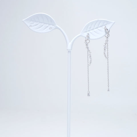 Shine Stone Wave Earrings [Secretary Kim]