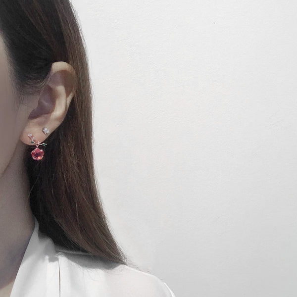 Flower Berry Earrings [Two-two]
