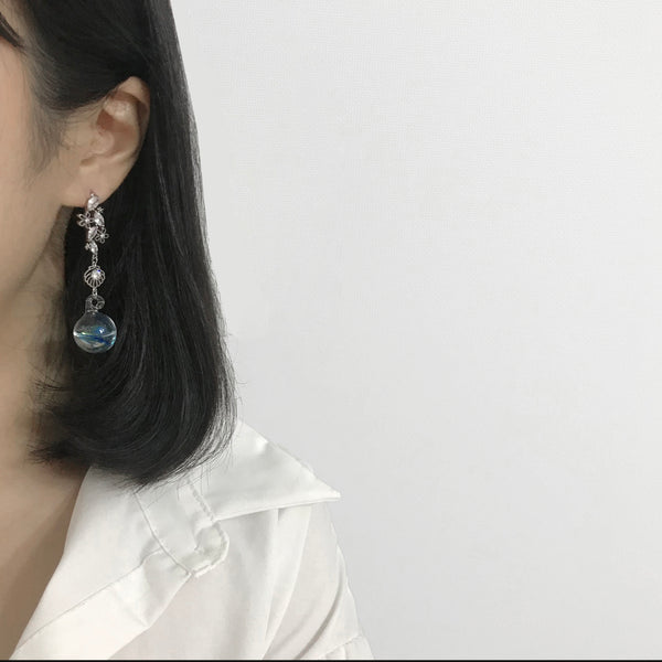 The Imaginary Sea Earrings In Blue
