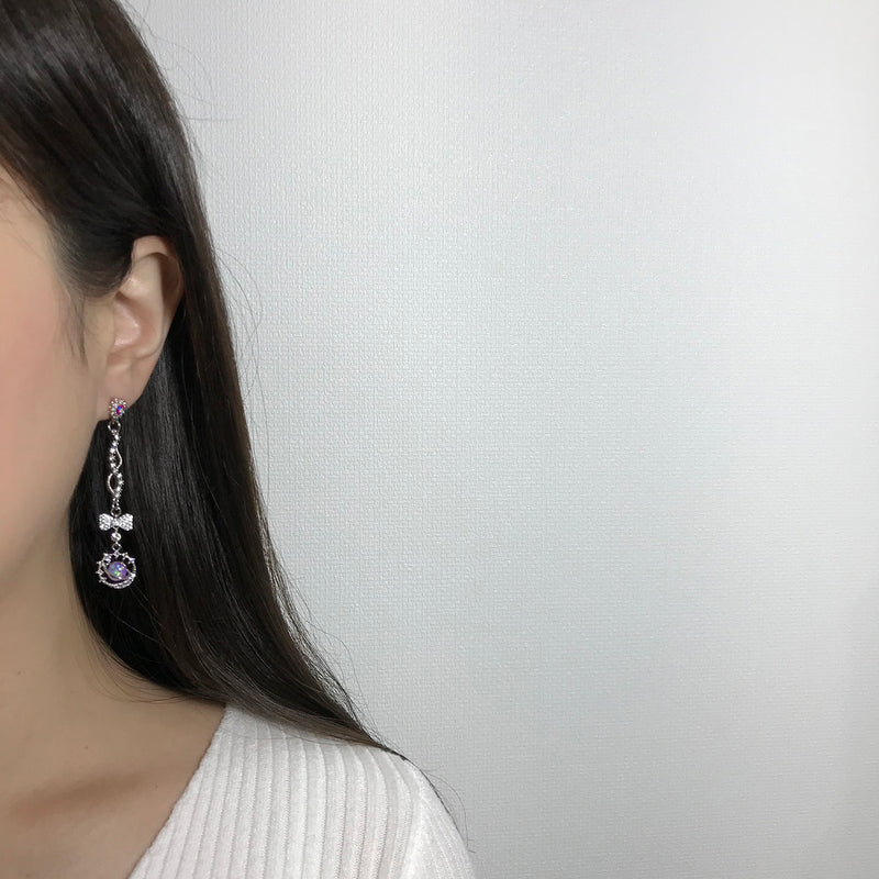 Violet Night Earrings