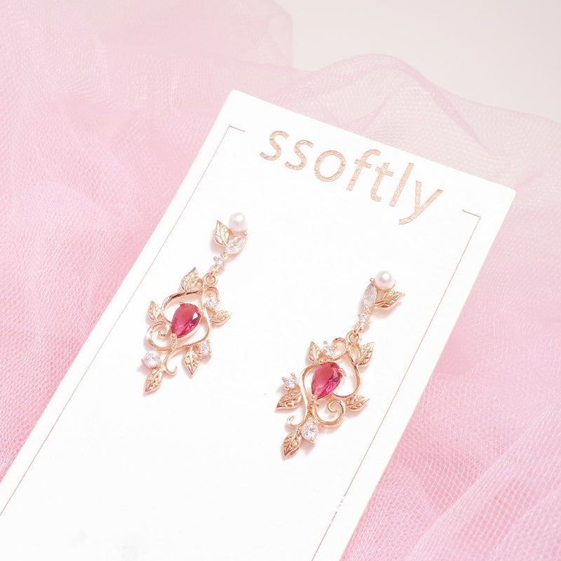 The Ruby Garden Earrings  [Two-two]