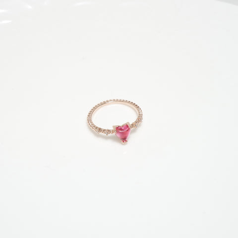 Lucid Heart Pinky Ring