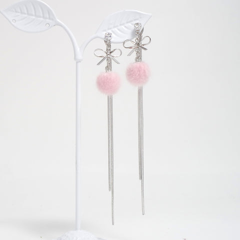 Madelyn PomPom Earrings  [Romantic Winter]