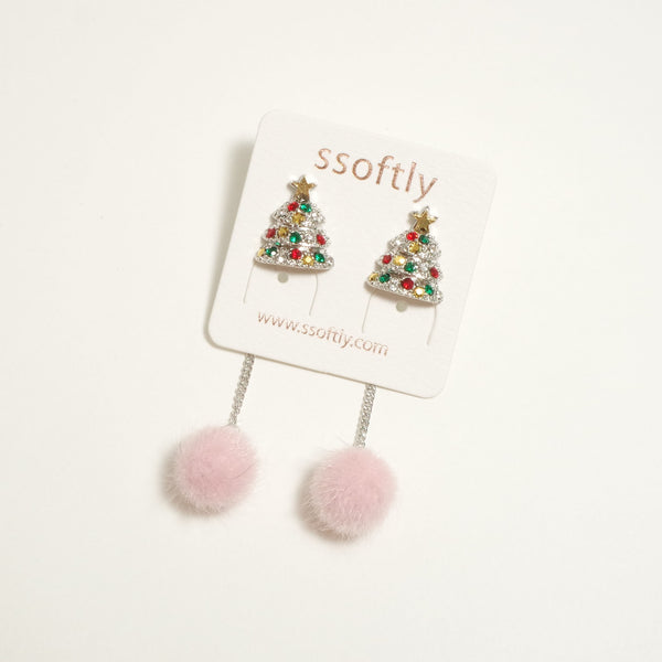 Merry Pink Xmas Earrings