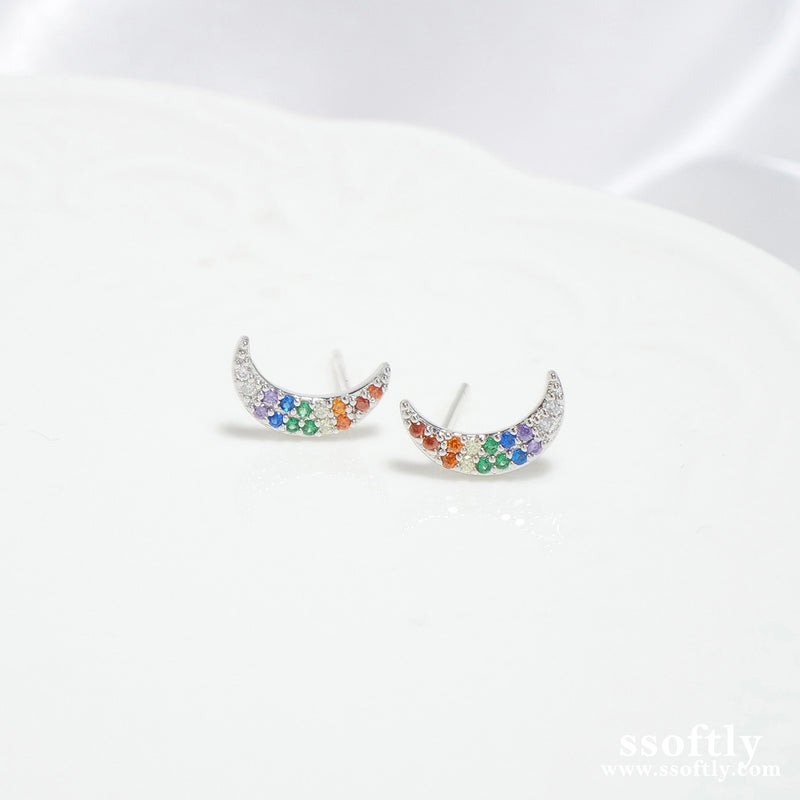 New Moon Earrings [Rainbow Collection]