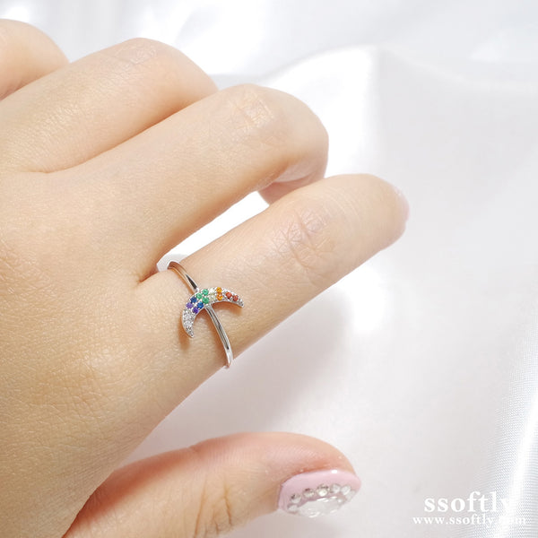 New Moon Ring [Rainbow Collection]