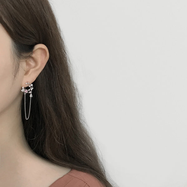 The Rose In The New Moon Earrings [Two-two]
