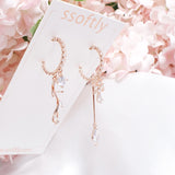 Olivia Shine Ice Flower Earrings [Ssoftly's Winter]